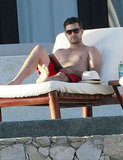 Joshua Jackson on vacation in Mexico.