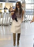 Victoria Beckham and Harper Beckham left LAX.