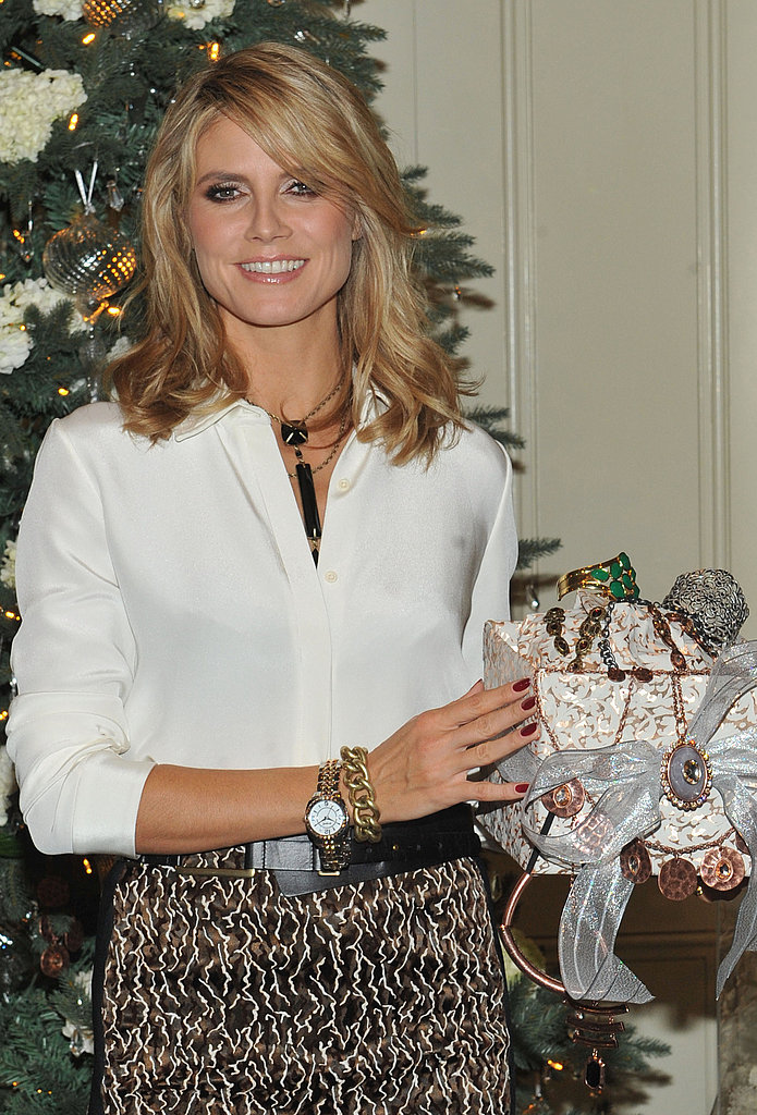 Heidi Klum put some presents under the tree.
