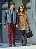 Emma Stone and Andrew Garfield stayed close for a day in NYC.