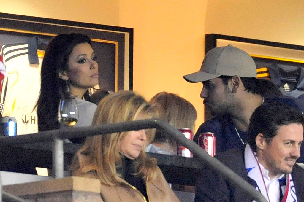 Eduardo Cruz and Eva Longoria watched David Beckham play soccer.