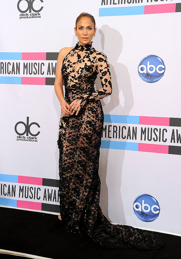 Jennifer Lopez was back in her lace dress after two thrilling performances.