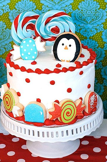 Winter Candyland Birthday Cake