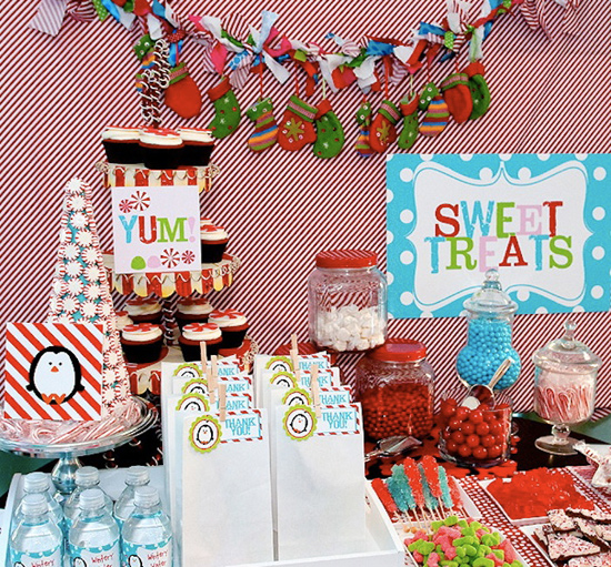 Winter Candy Land Candy Buffet
