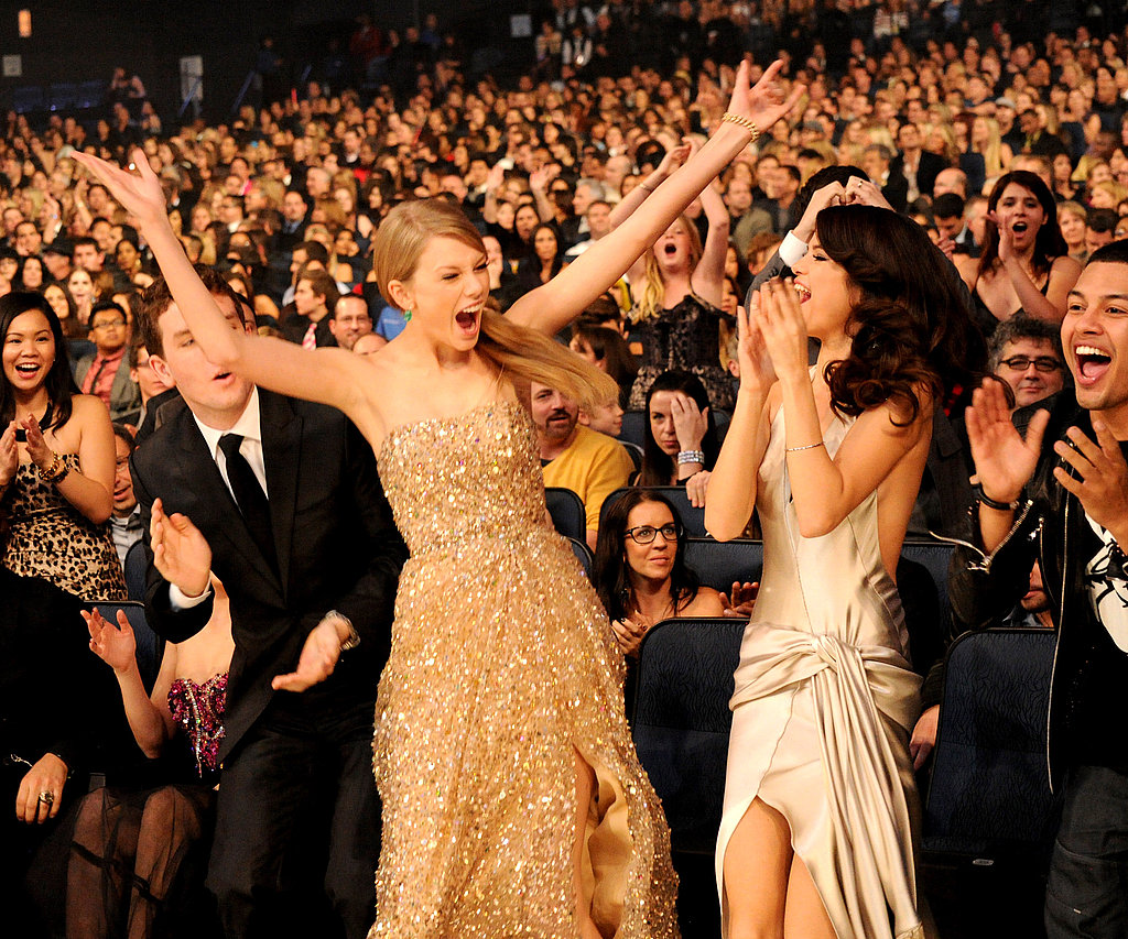 Selena Gomez shares Taylor Swift's excitement.