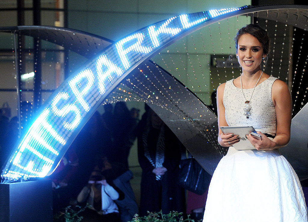 Jessica Alba helped light up Rodeo Drive on Monday night.