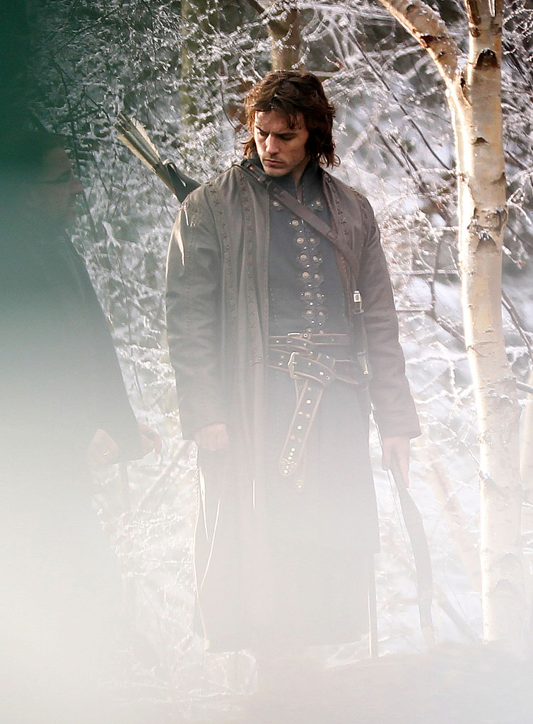 Chris Hemsworth on the set of Snow White and the Huntsman.