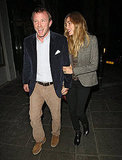 Jacqui Ainsley and Guy Ritchie met Gwyneth Paltrow for dinner.