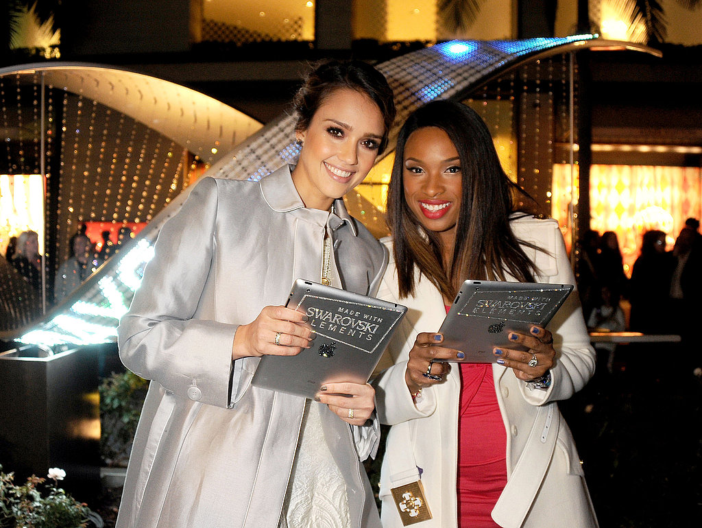 Jessica Alba and Jennifer Hudson were honorary guests at the Rodeo Drive lighting ceremony in LA.