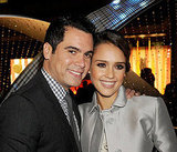Jessica Alba and Cash Warren were affectionate at a party in LA.