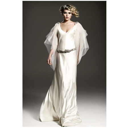 Caroline Silk Satin Gown