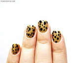 Do you have a favorite manicure?  Yes, but it varies depending on my mood. I'm partial to the recent cheetah-print nails (pictured), and always love the illusion created with the reversed deep V manicure.