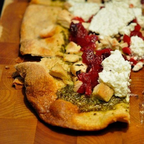 Turkey and Cranberry Leftover Pizza Recipe