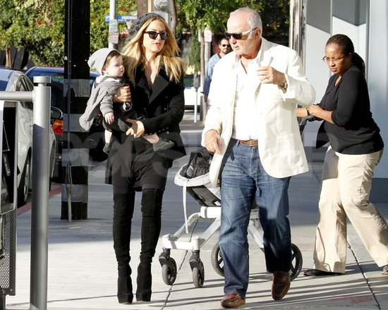 Rachel Zoe, Skyler Berman, and Ron Rosenzweig had a family outing in LA.