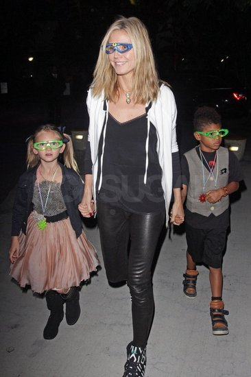 Heidi Klum Rocks Out to Katy Perry With Leni and Henry