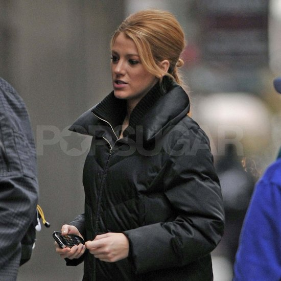 Blake Lively in character for Gossip Girl.