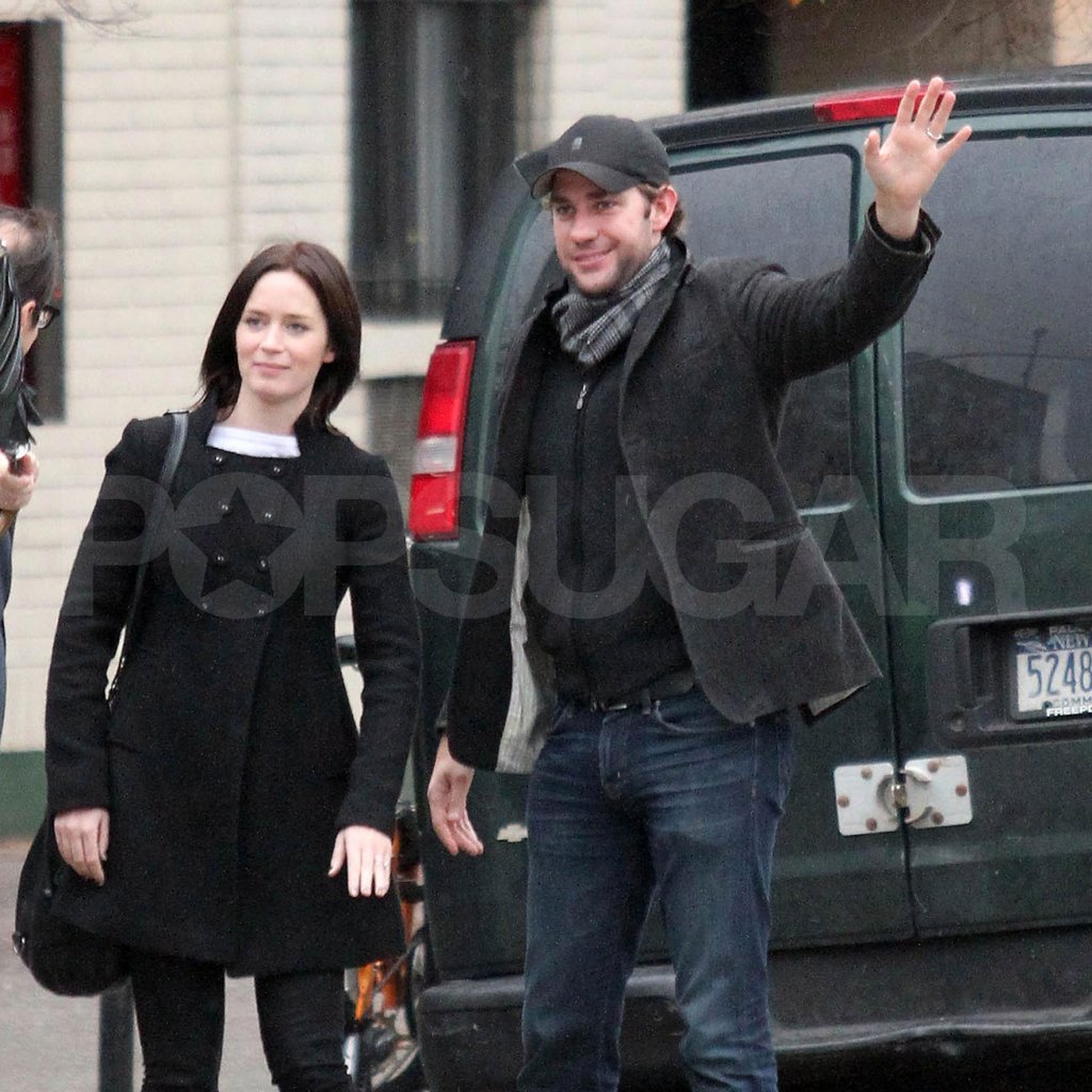 John Krasinski waved down a taxi for him and Emily Blunt.