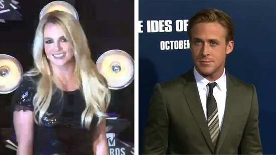 "Video: Britney Spears on the ""Amazing"" Ryan Gosling and Competing With Adele"