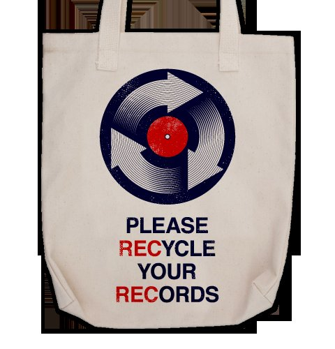 Recycle Your RECords Tote Bag