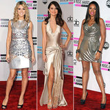 Don't miss a moment of our AMAs red-carpet coverage — are you a fan of the metallic megawatt shine?