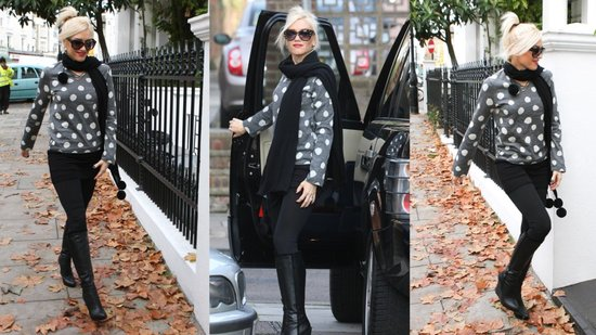 See Gwen Stefani Look Hot in Polka Dots!