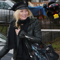 Kate Moss Street Style Around London