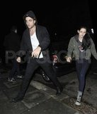 Robert Pattinson and Kristen Stewart together in London.