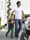 David Beckham out with his happy son Cruz Beckham.