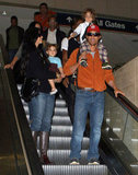 Matthew McConaughey and Camila Alves touched down at LAX.