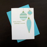Ornaments Letterpress Holiday Card ($5)