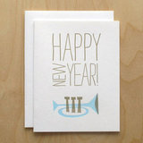 Happy New Year Letterpress Holiday Card ($5)