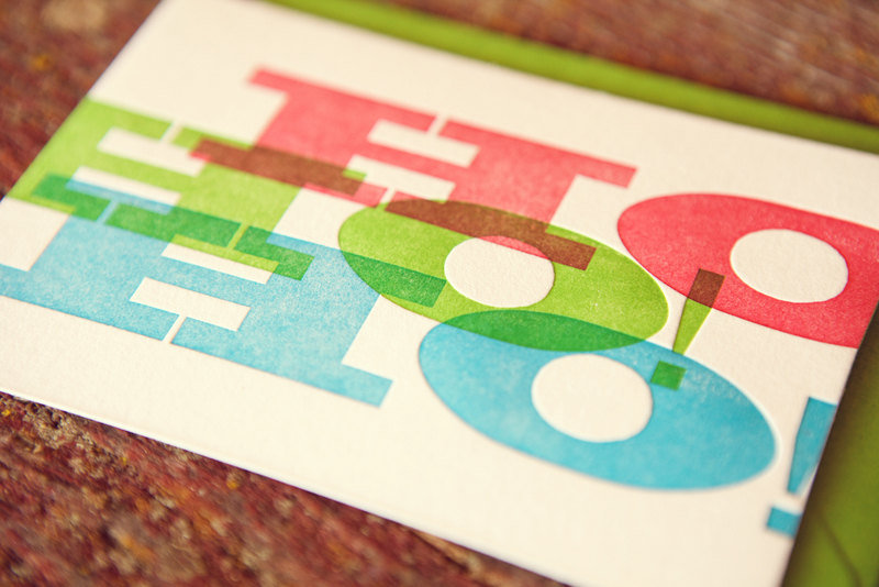 Ho, Ho, Ho Letterpress Holiday Card ($4)
