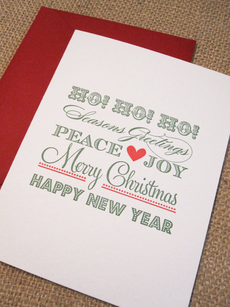 Letterpress Set of 10 Holiday Card ($18)