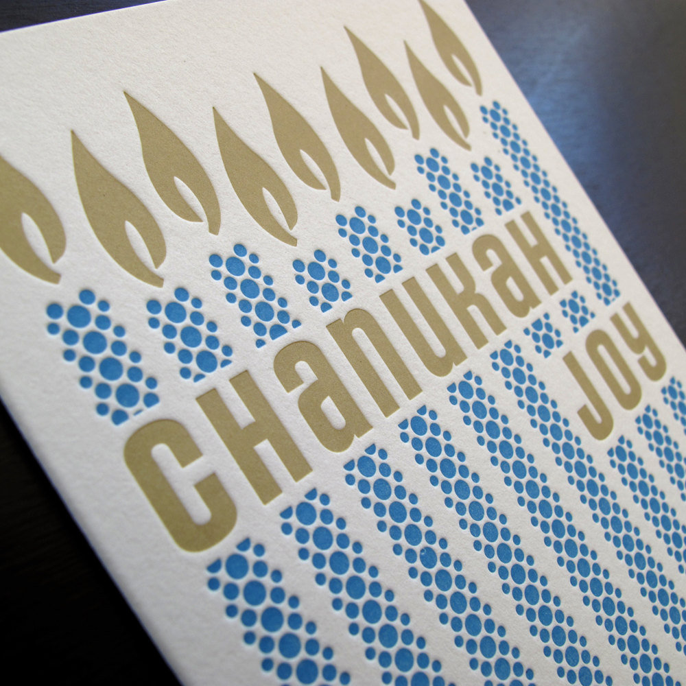 Chanukah Letterpress Holiday Card ($5)