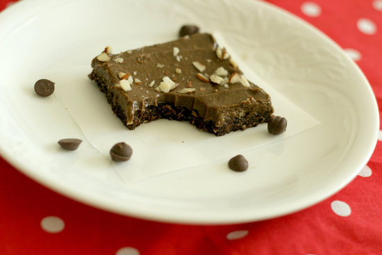 Healthy Carob Squares with Avocado Frosting *raw*
