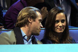 Pippa Middleton chatted with a blond guy friend.