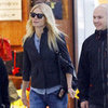 Gwyneth Paltrow in Black Jacket at Heathrow Pictures