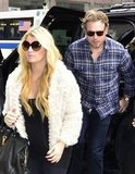 Jessica Simpson and Eric Johnson shopped at Barneys.