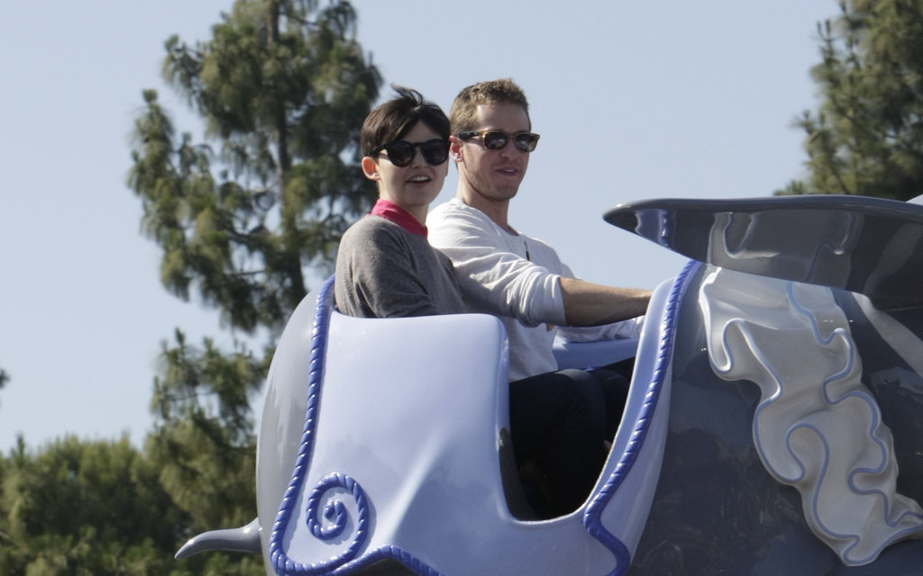 Ginnifer Goodwin marked her 33rd birthday on a May 2011 trip to Disneyland with her current husband, Josh Dallas.