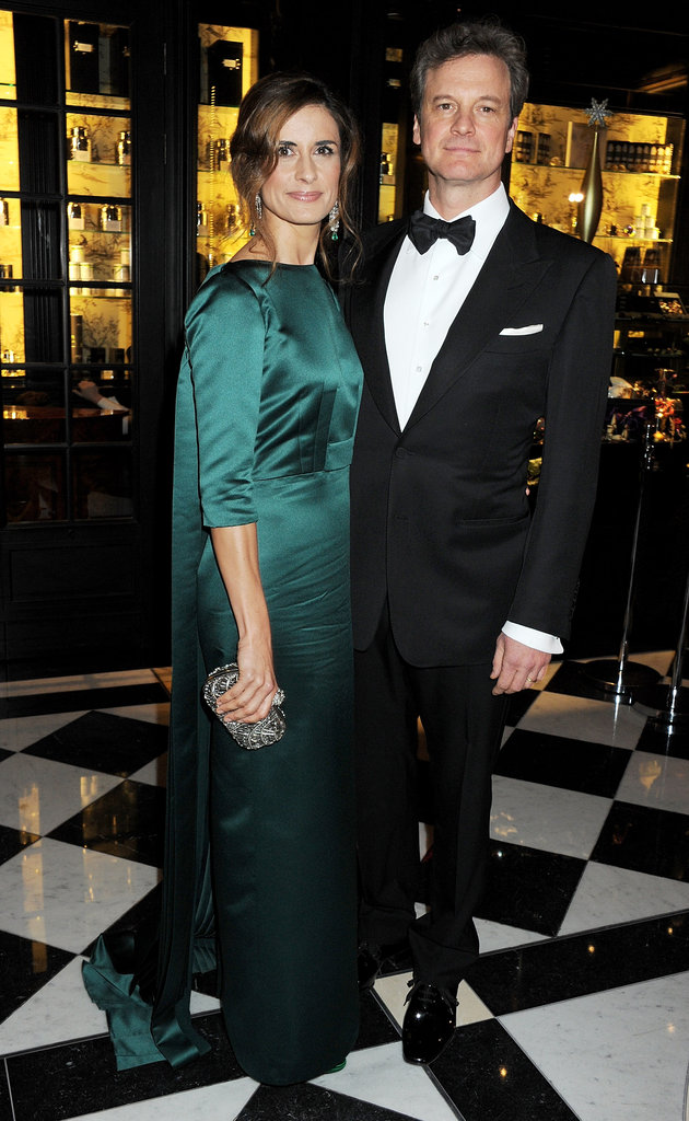 Colin Firth was joined by his wife, Livia Giuggioli.