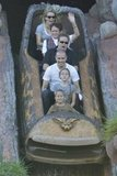 Reese Witherspoon, Jim Toth, Ava, and Deacon rode Splash Mountain in November 2011.