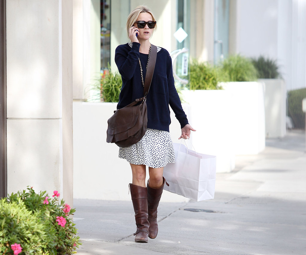 Reese Witherspoon shopped solo around town.
