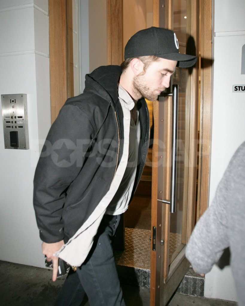 Robert Pattinson went to a meeting in London.
