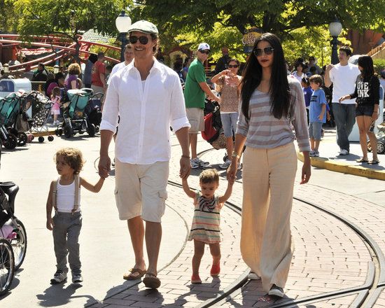 "Matthew McConaughey and Camila Alves took Levi and Vida to the ""Happiest Place on Earth"" in June 2011."