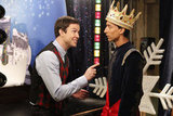 Abed dons a crown for the Christmas pageant.  Photo courtesy of NBC
