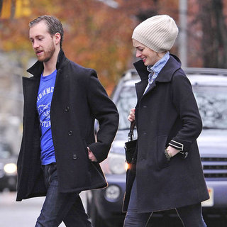 Engaged Anne Hathaway and Adam Shulman Pictures in NYC