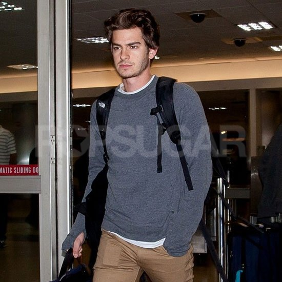 Andrew Garfield was back in LA after spending time in NYC.