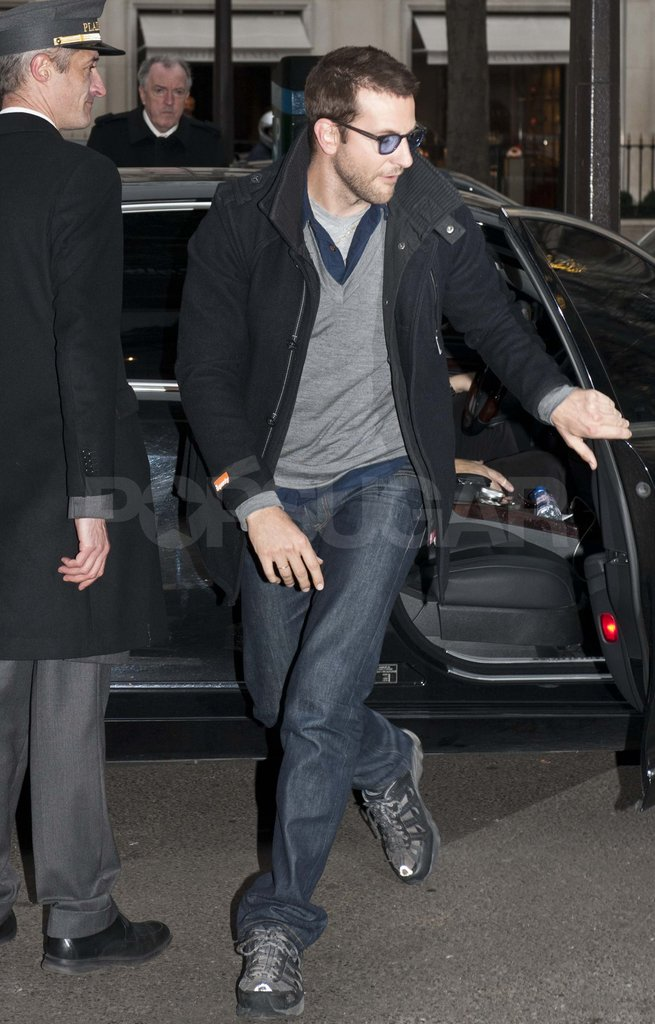 Bradley Cooper going to dinner in France.