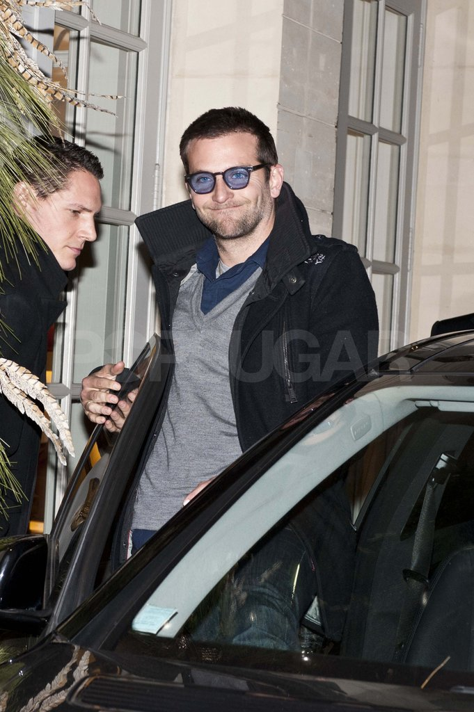 Bradley Cooper at dinner in Paris.