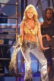 Britney Spears rocked the crowd at the American Music Awards in January 2001.